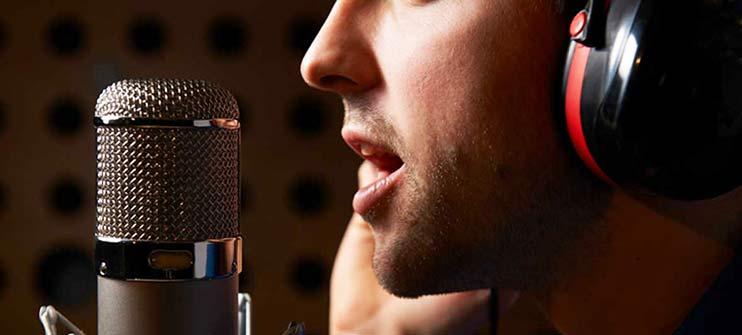 Записать голос диктора