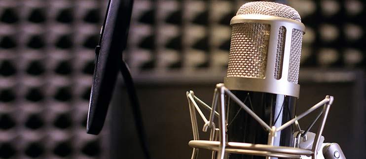 Записать дикторский голос