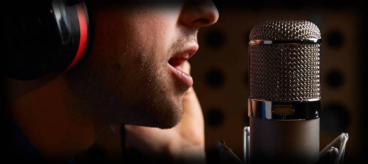 Запись голоса на винтажный микрофон
