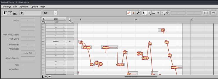 Использование тюнинга в программе Melodyne при сведении трека