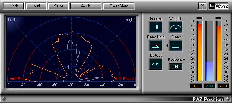Плагин Waves PAZ Position для контроля моносовместимости сигнала